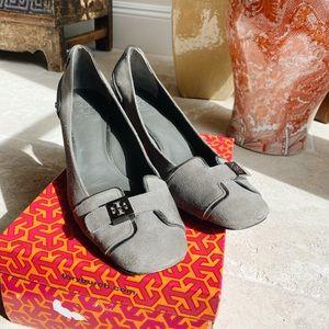 Tory Burch grey heel